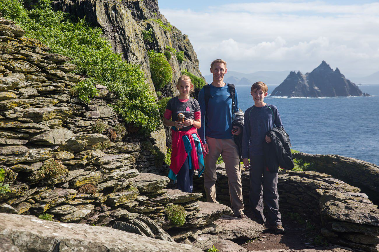 Skellig Michael with Kids