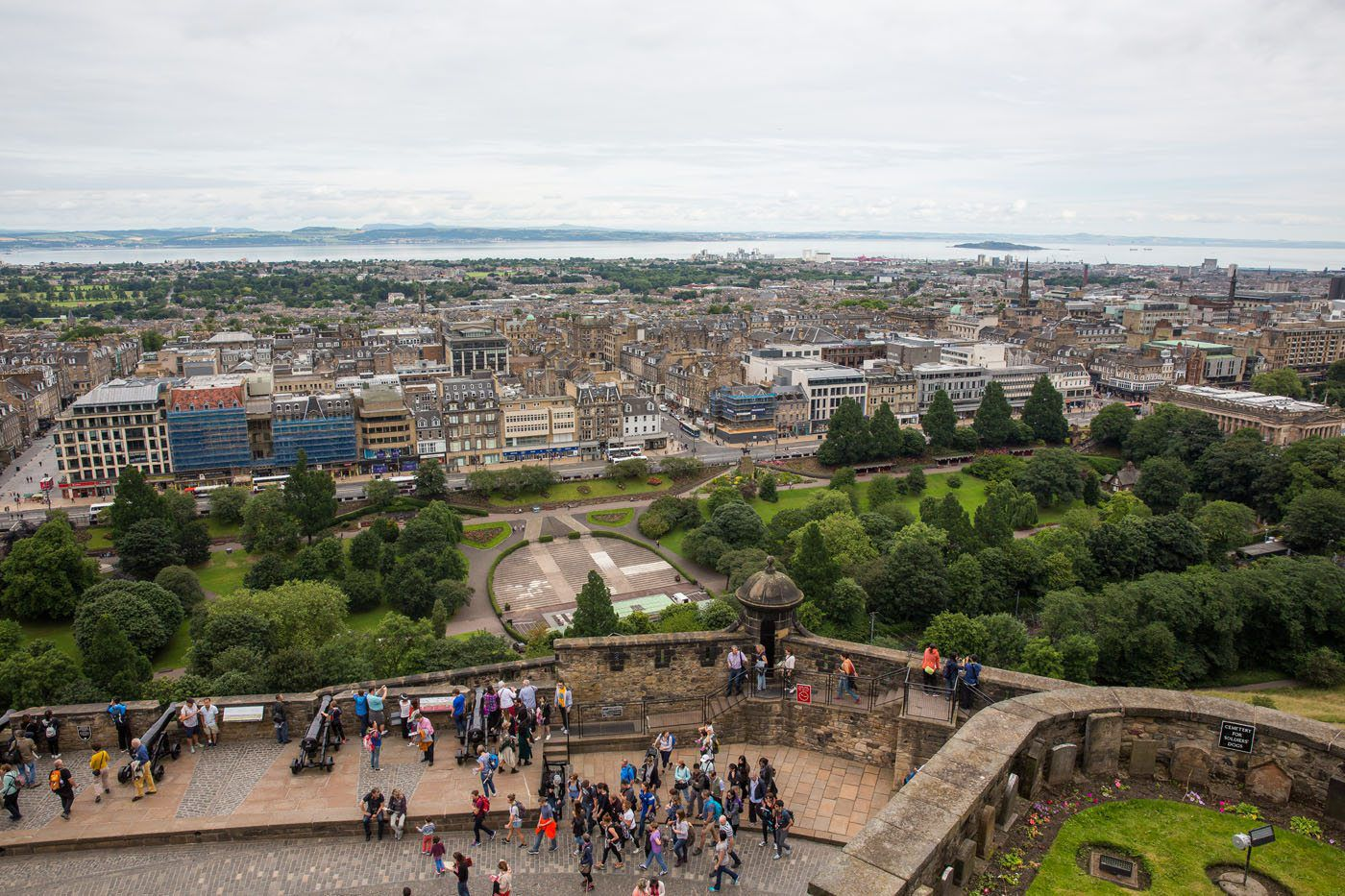 Image result for view of edinburgh from the castle