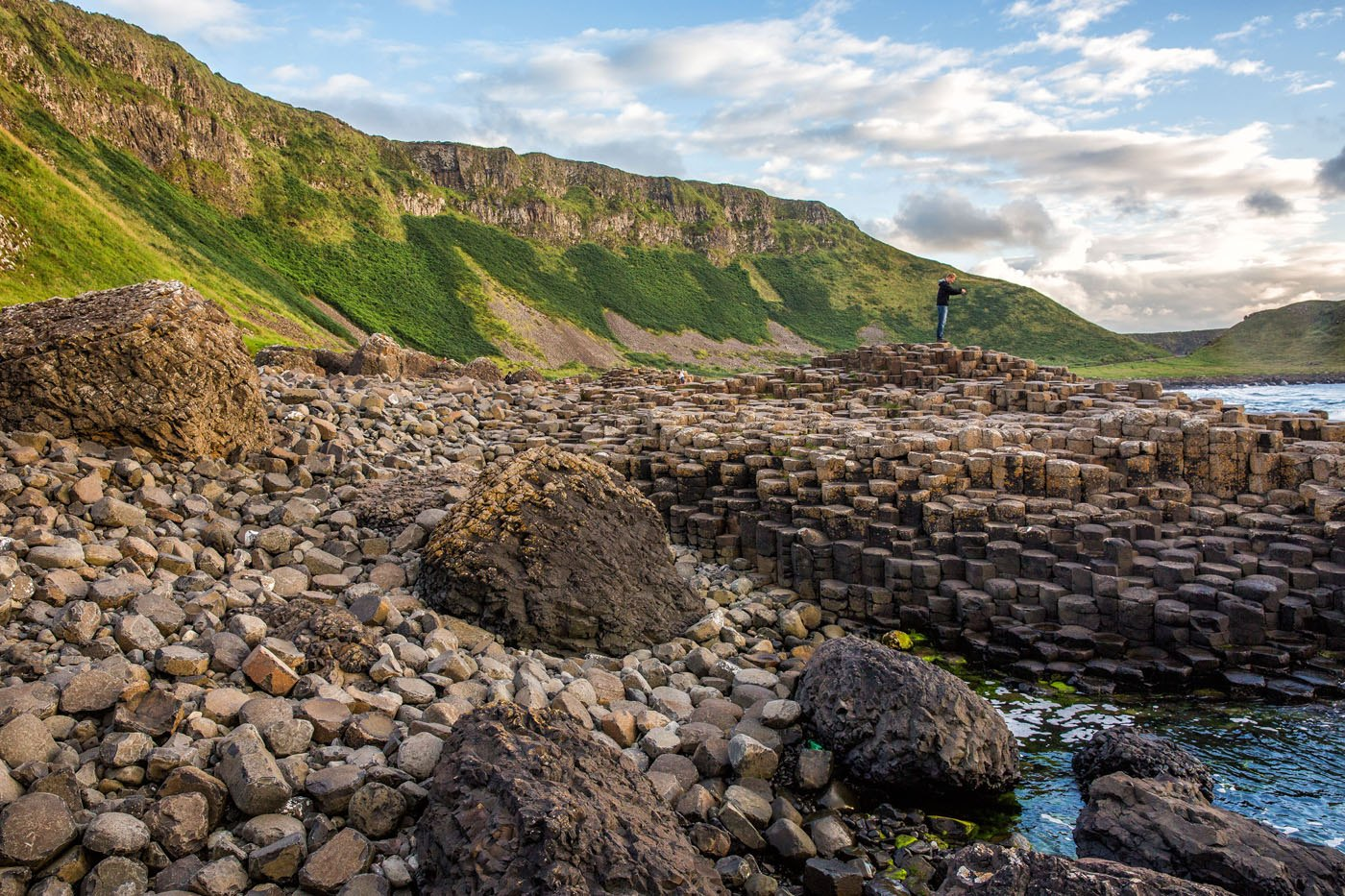 Tim Photographing Giants Causeway