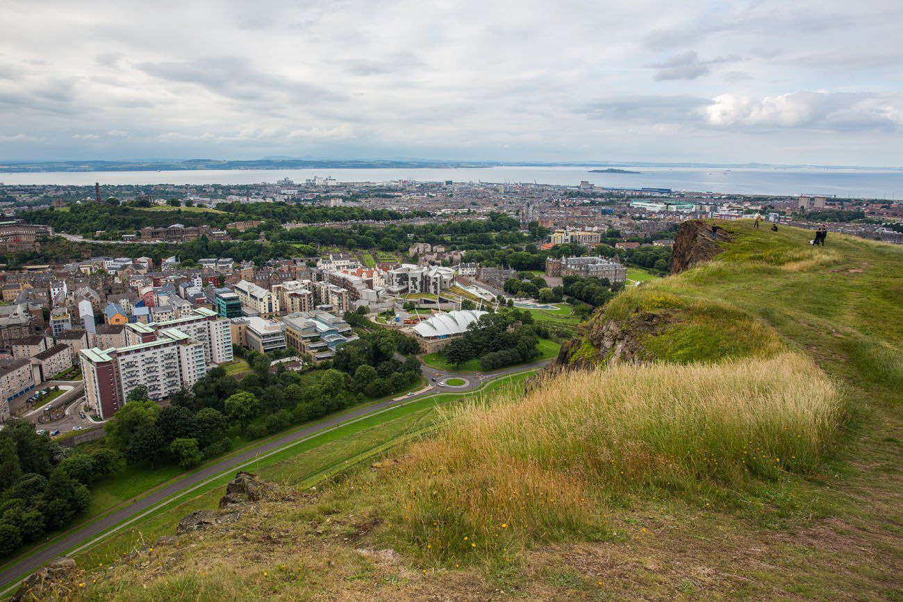 Top of Salisbury Crags Edinburgh