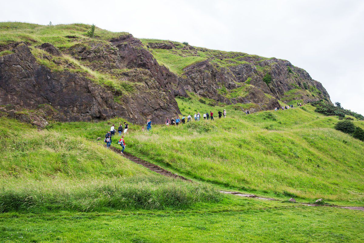 Walking Salisbury Crags