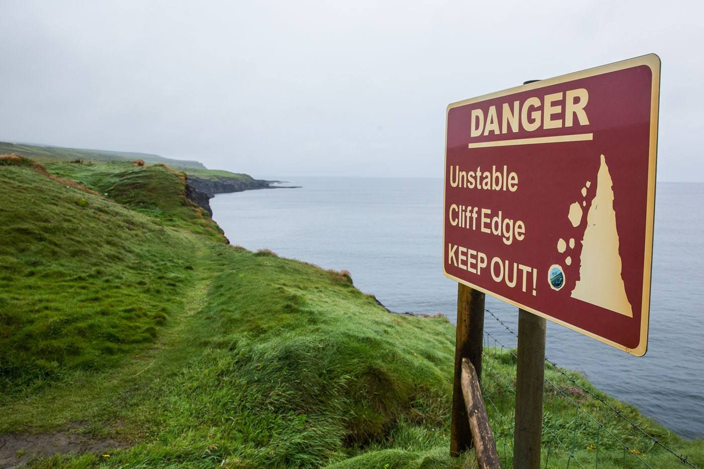 Cliffs of Moher Danger