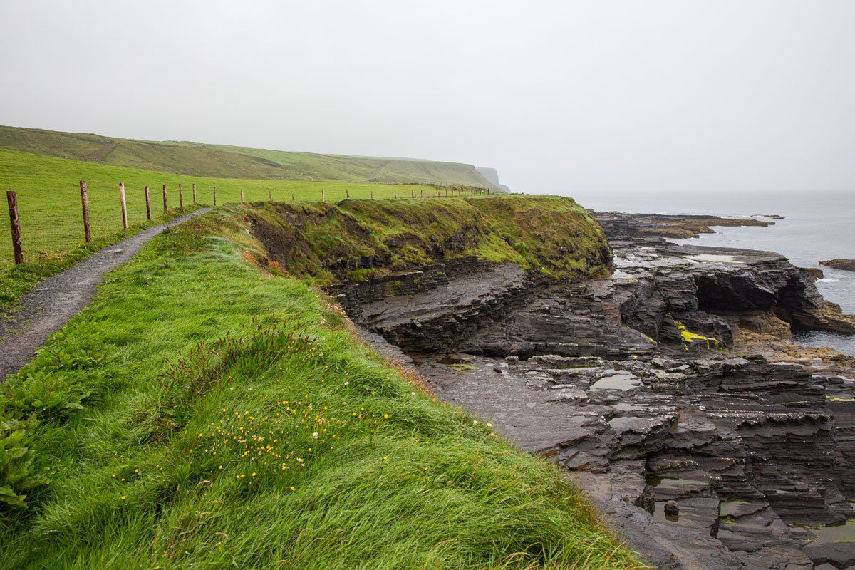 Cliffs of Moher in the rain