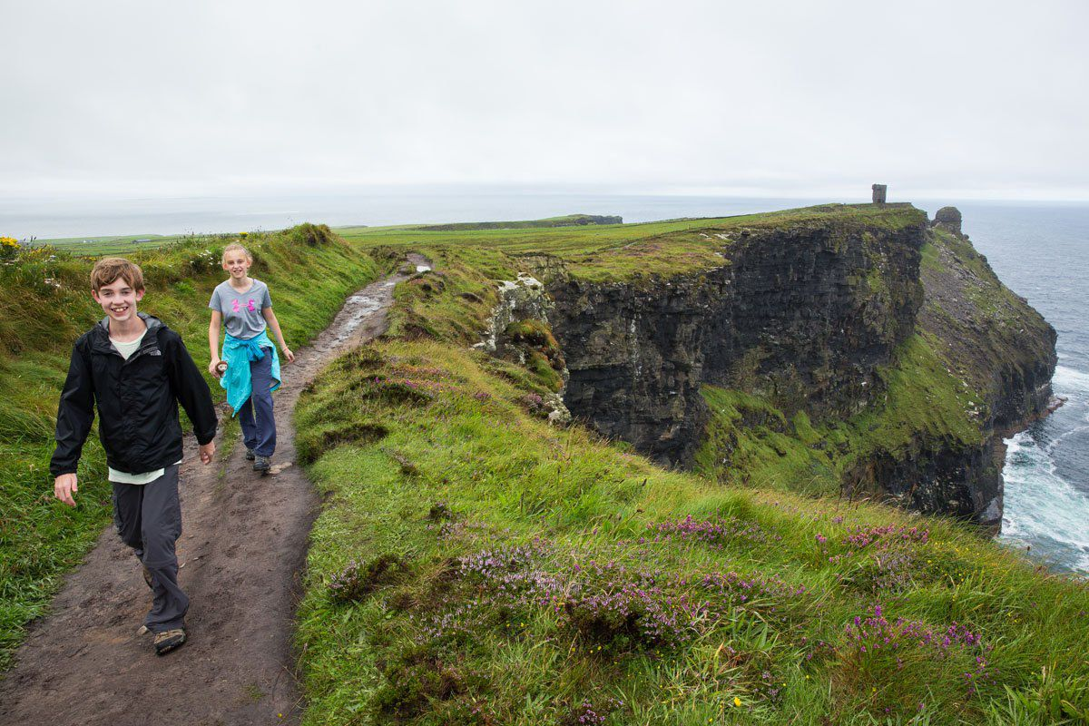 Cliffs of Moher with Kids