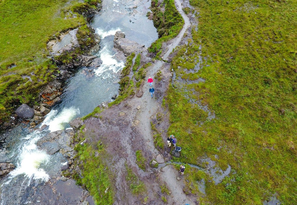 Drone Earth Trekkers Fairy Pools