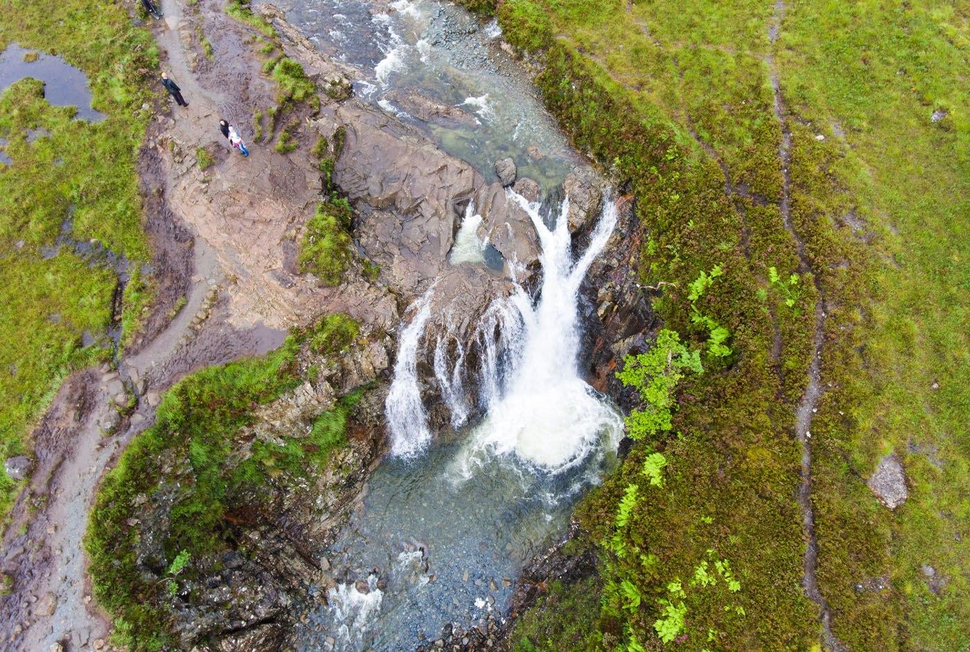 Drone Fairy Pools Scotland