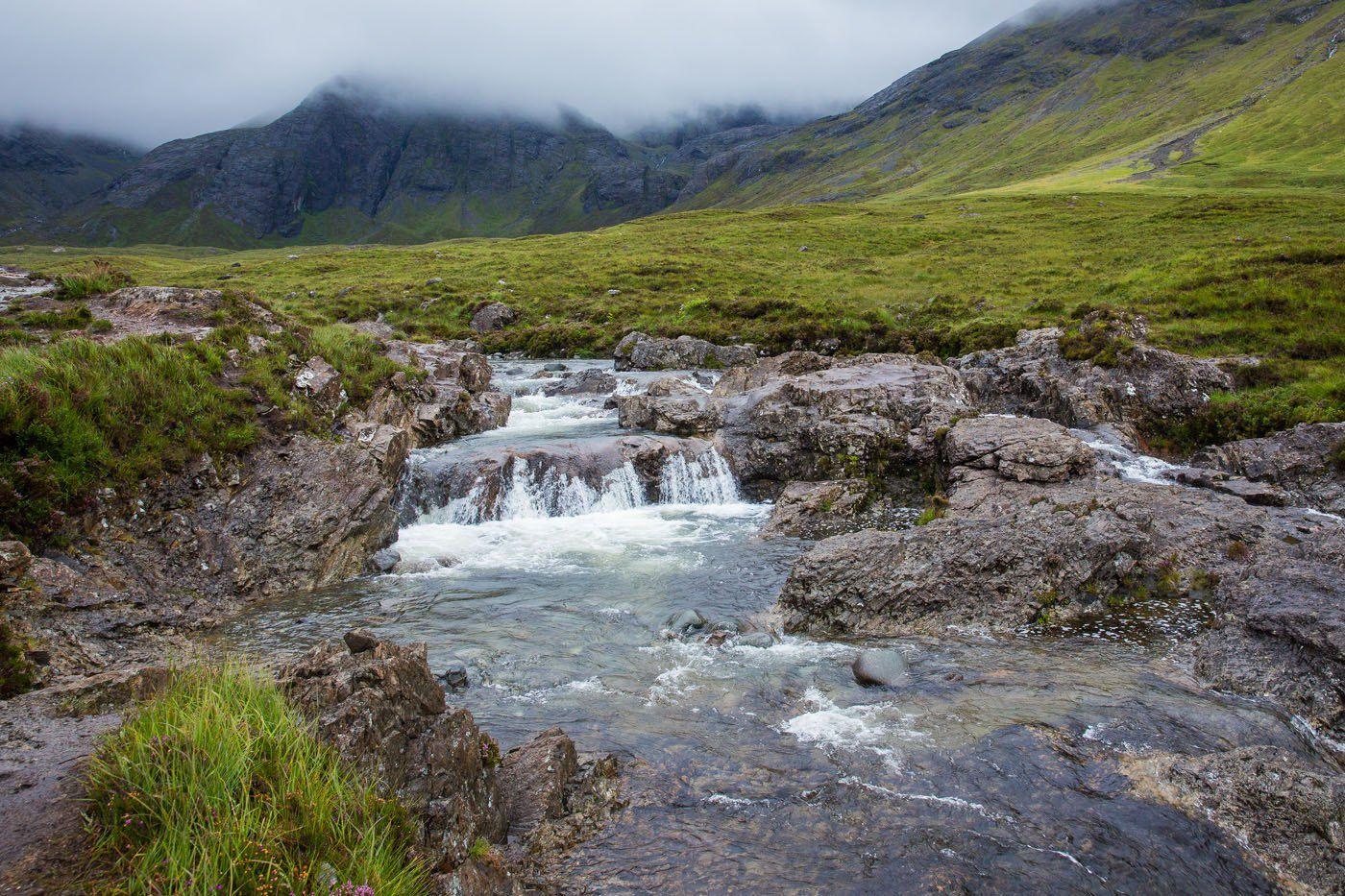 Fairy Pools in the Rain