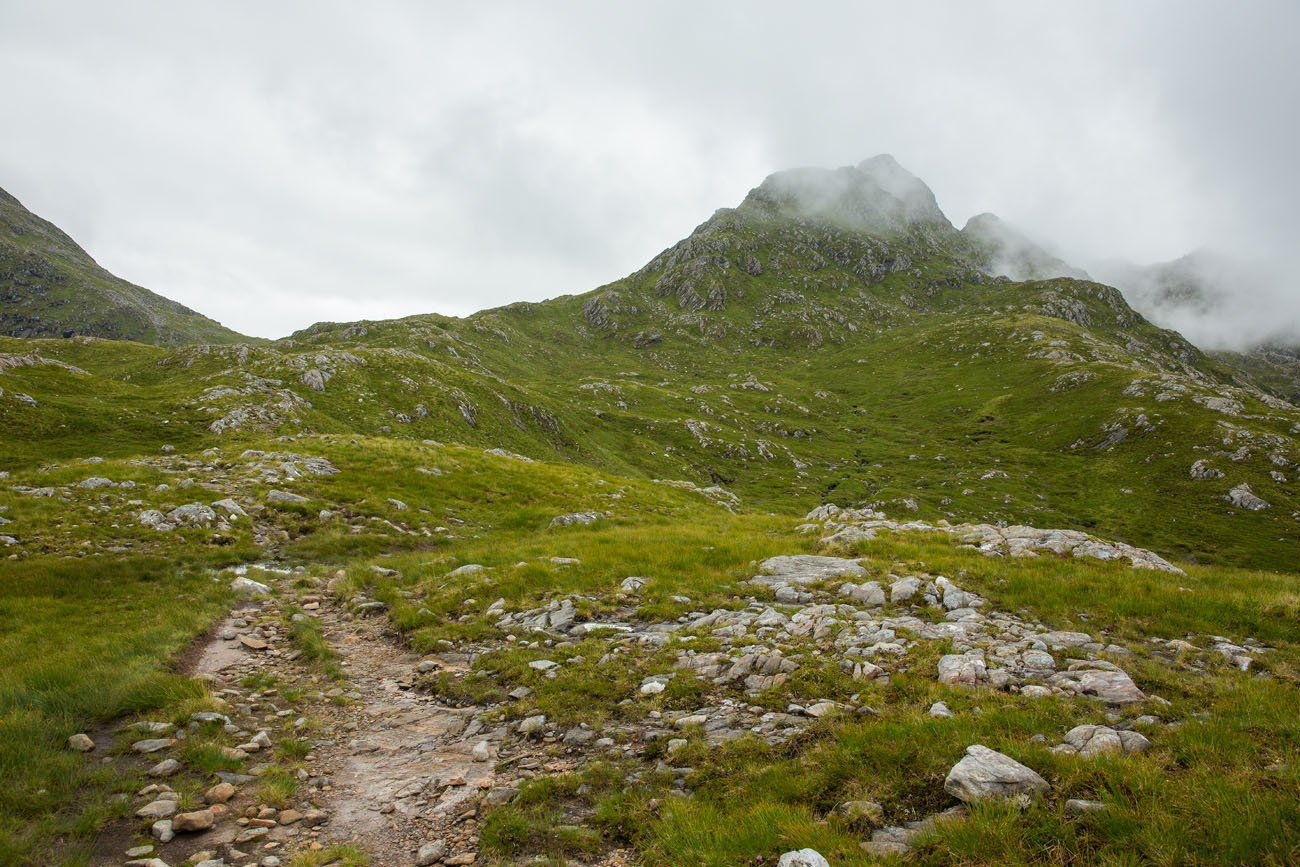 Forcan Ridge in the clouds