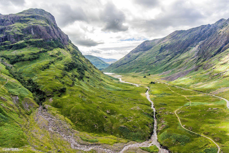 Glencoe Scotland Drone