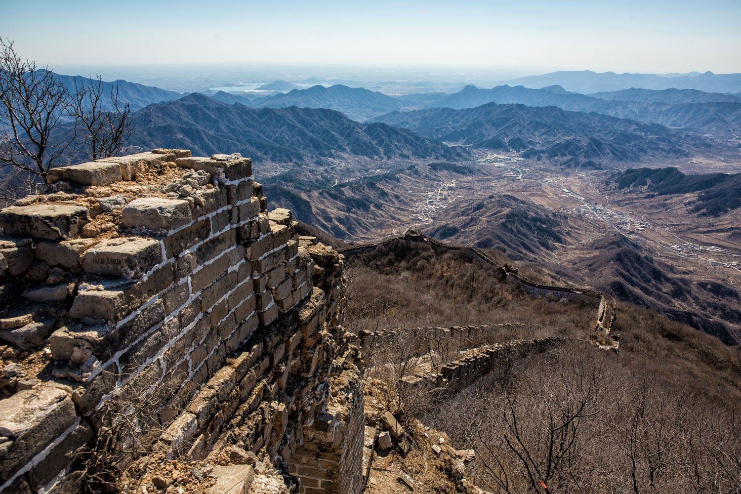 Great wall China hike