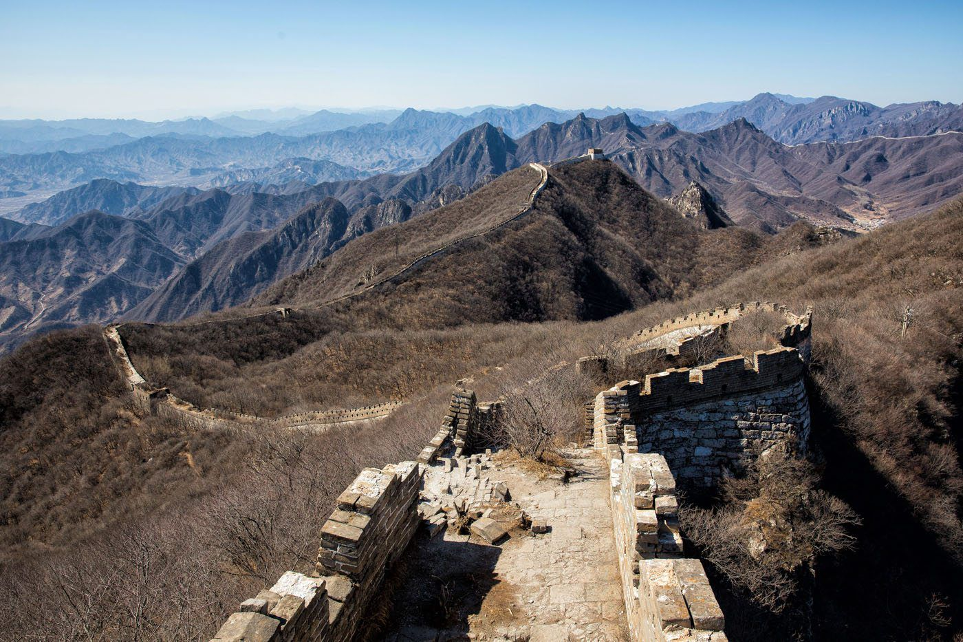 Great Wall of China in March