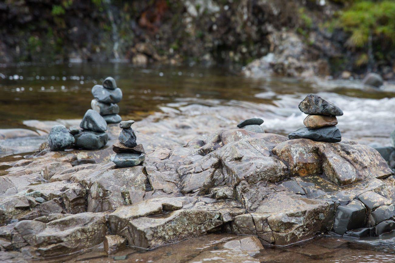 Stacked Stones Fairy Pools