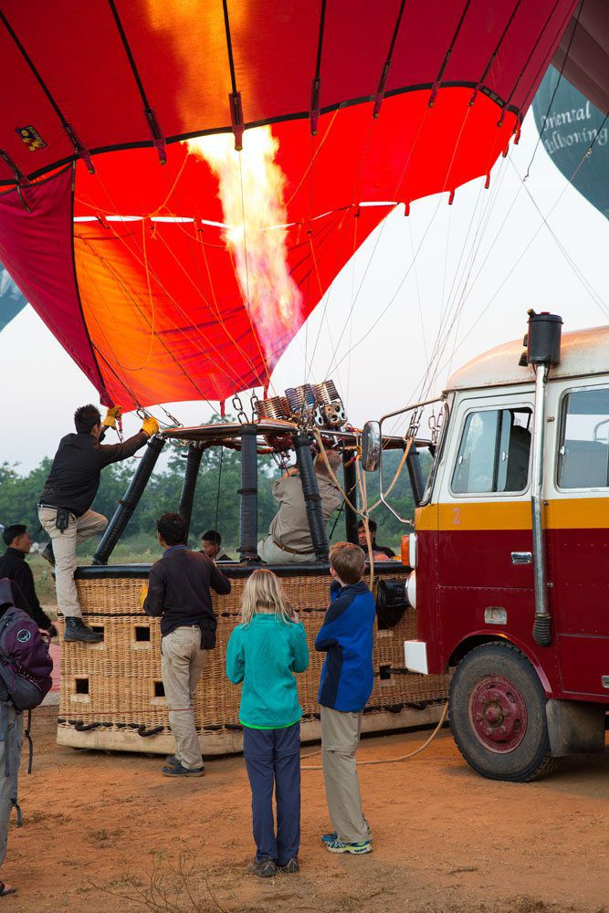 Balloons over Bagan Inflation