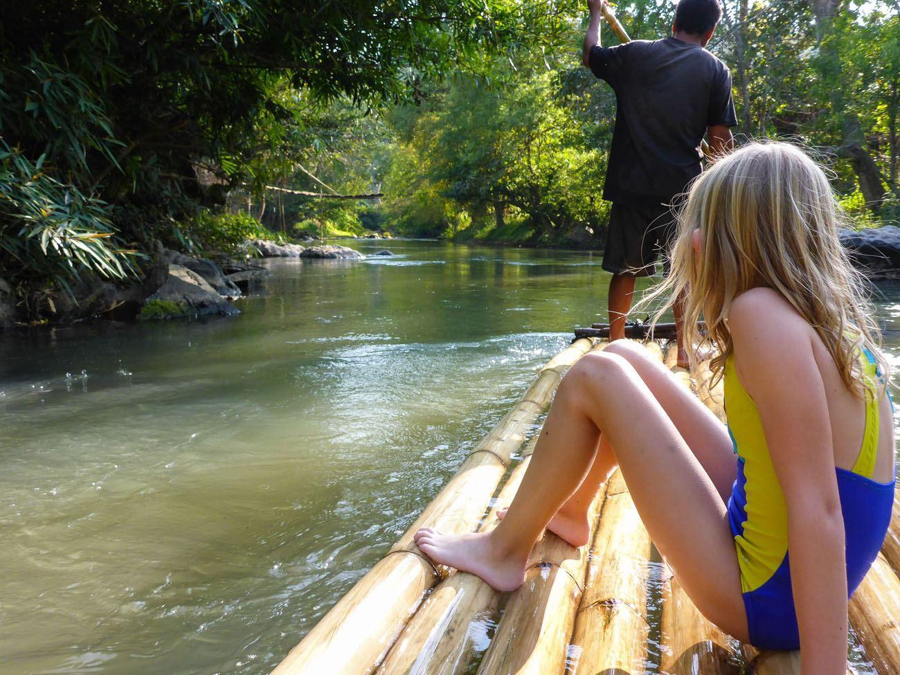 Bamboo rafting Thailand