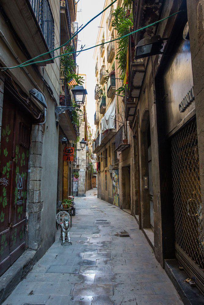Barcelona Gothic Quarter Street
