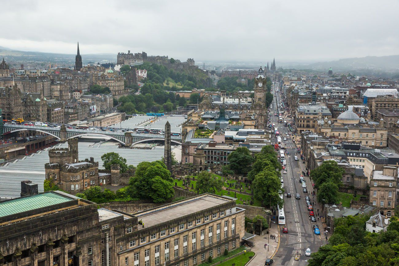 Calton Hill Edinburgh View
