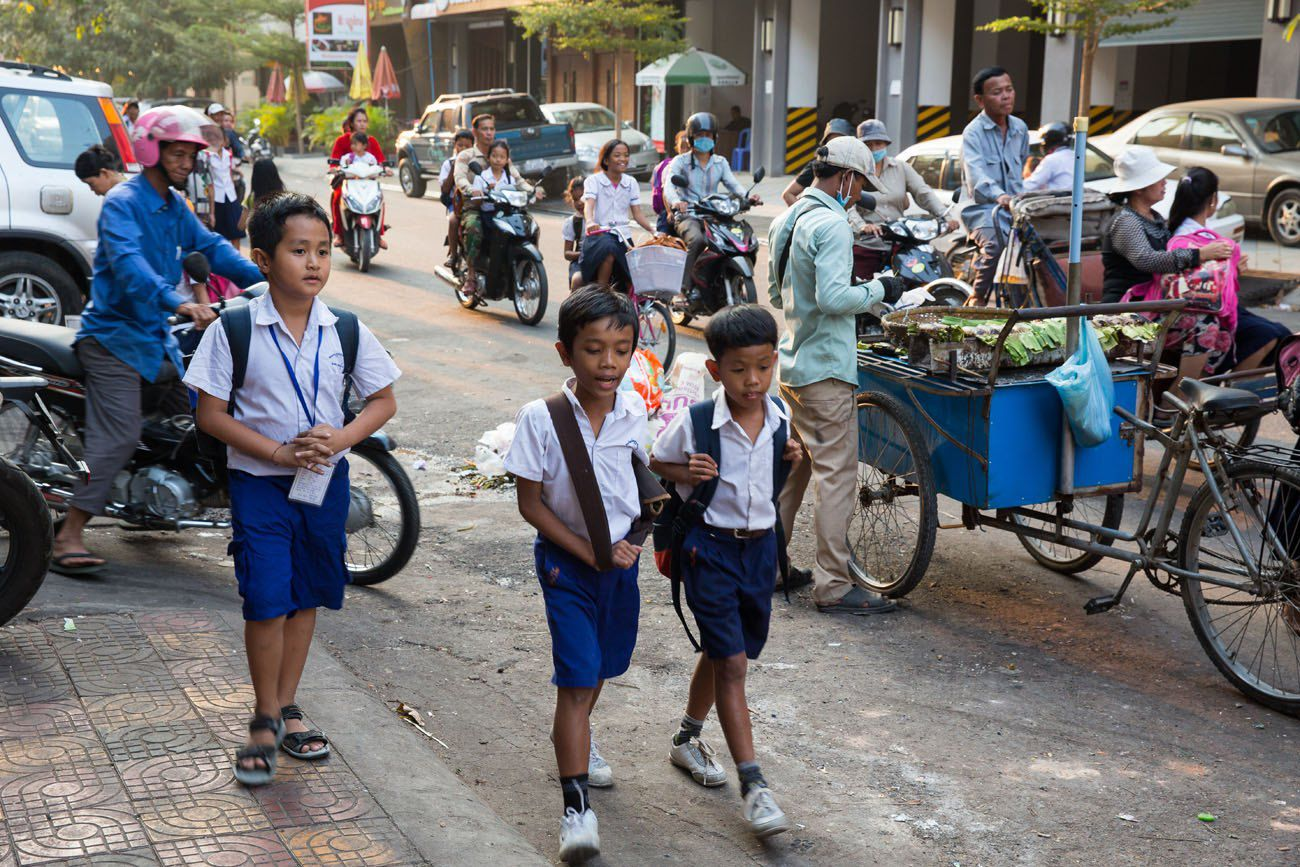 Cambodia students