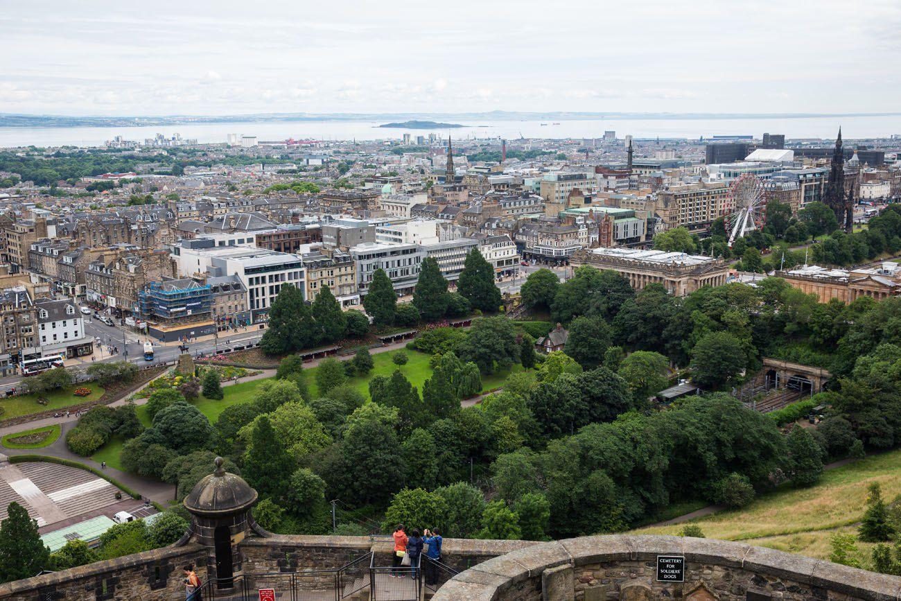 Edinburgh View from the Edinburgh Castle