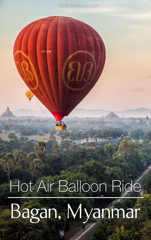 Hot Air Balloon Ride Bagan Myanmar