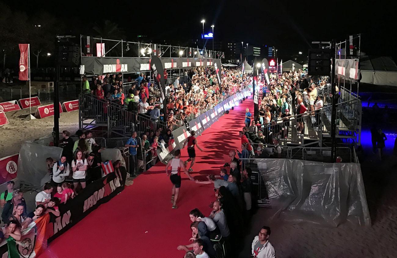 Ironman Barcelona finish line