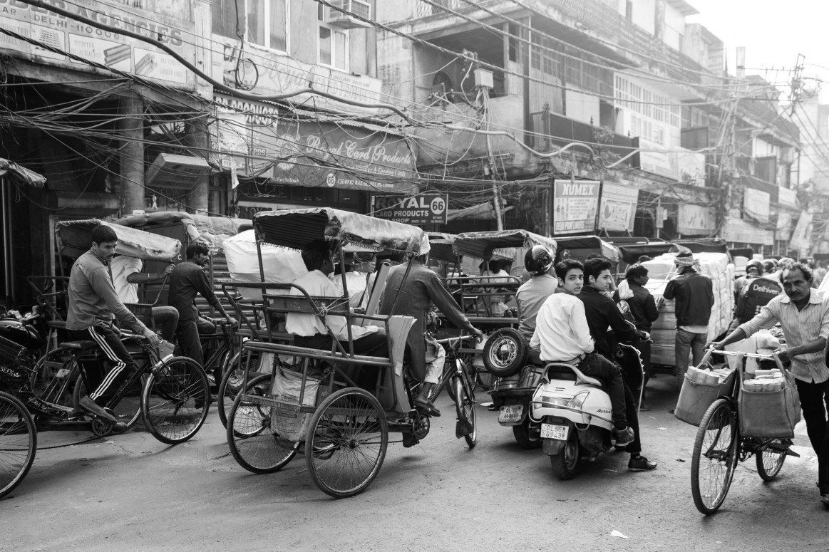 Old Delhi black and white