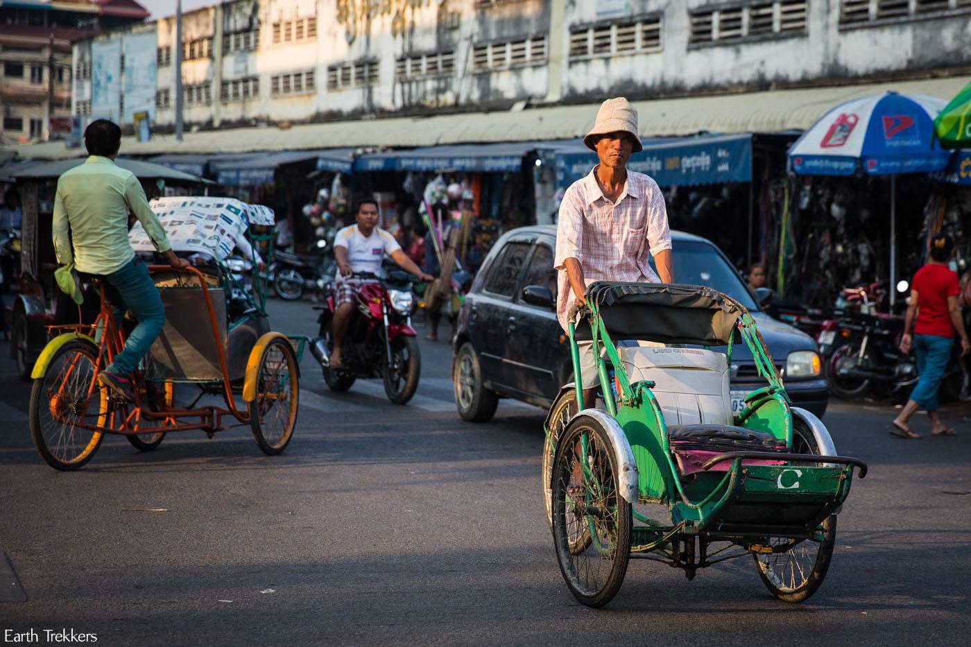 Phnom Penh rickshaw