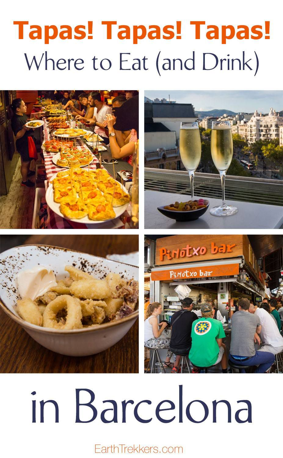 Tapas in Barcelona. Best rooftop bars and tapas restaurants.