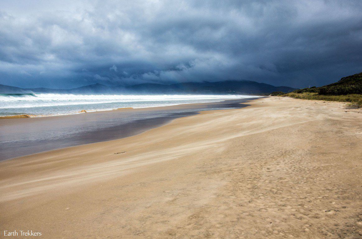 Bruny island in the rain