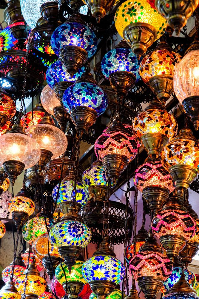 Colorful lights Grand Bazaar