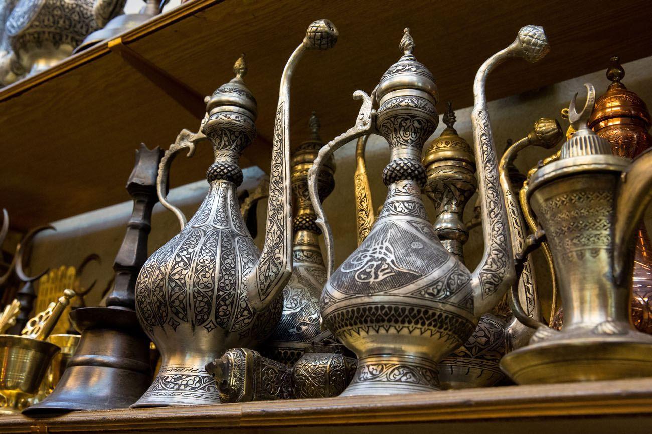 Copper pots Istanbul