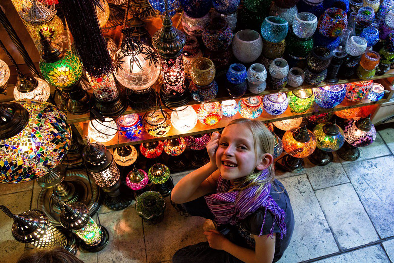 Grand Bazaar with kids