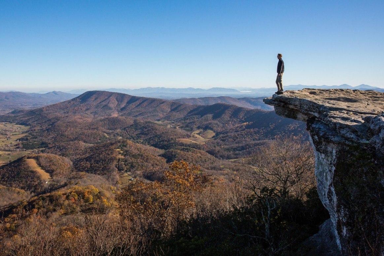 Hiking McAfee Knob November