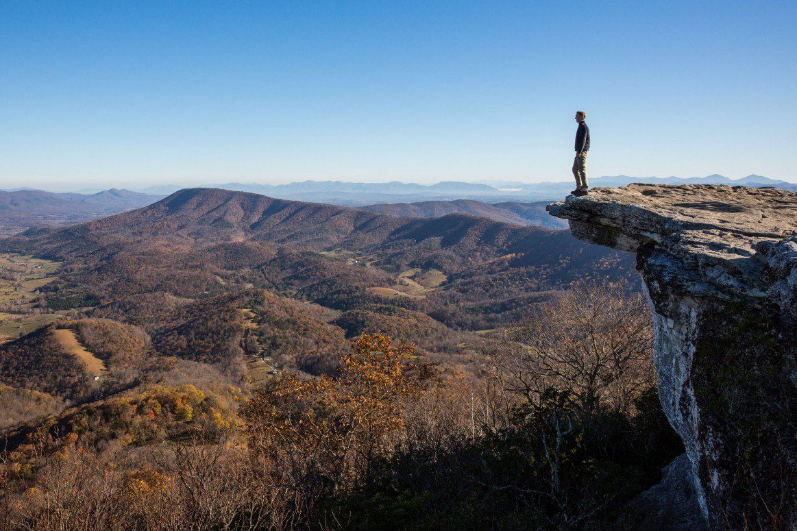Hiking McAfee Knob November
