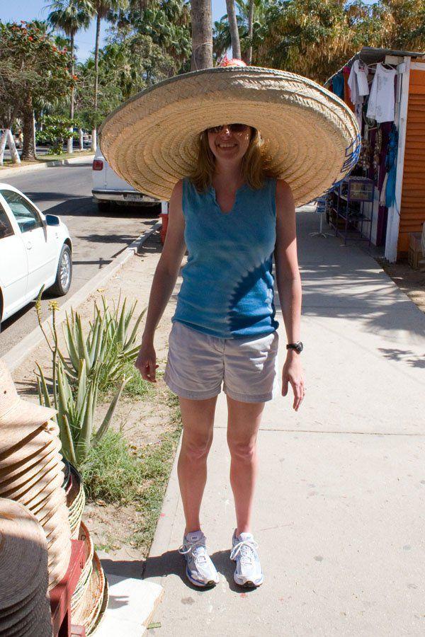 Julie in a sombrero