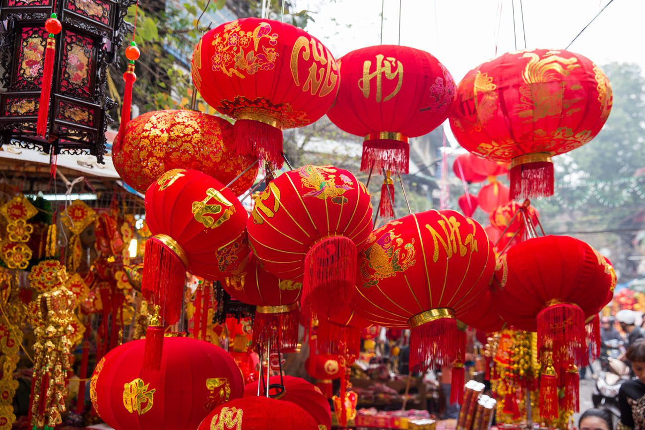 Lanterns for Tet