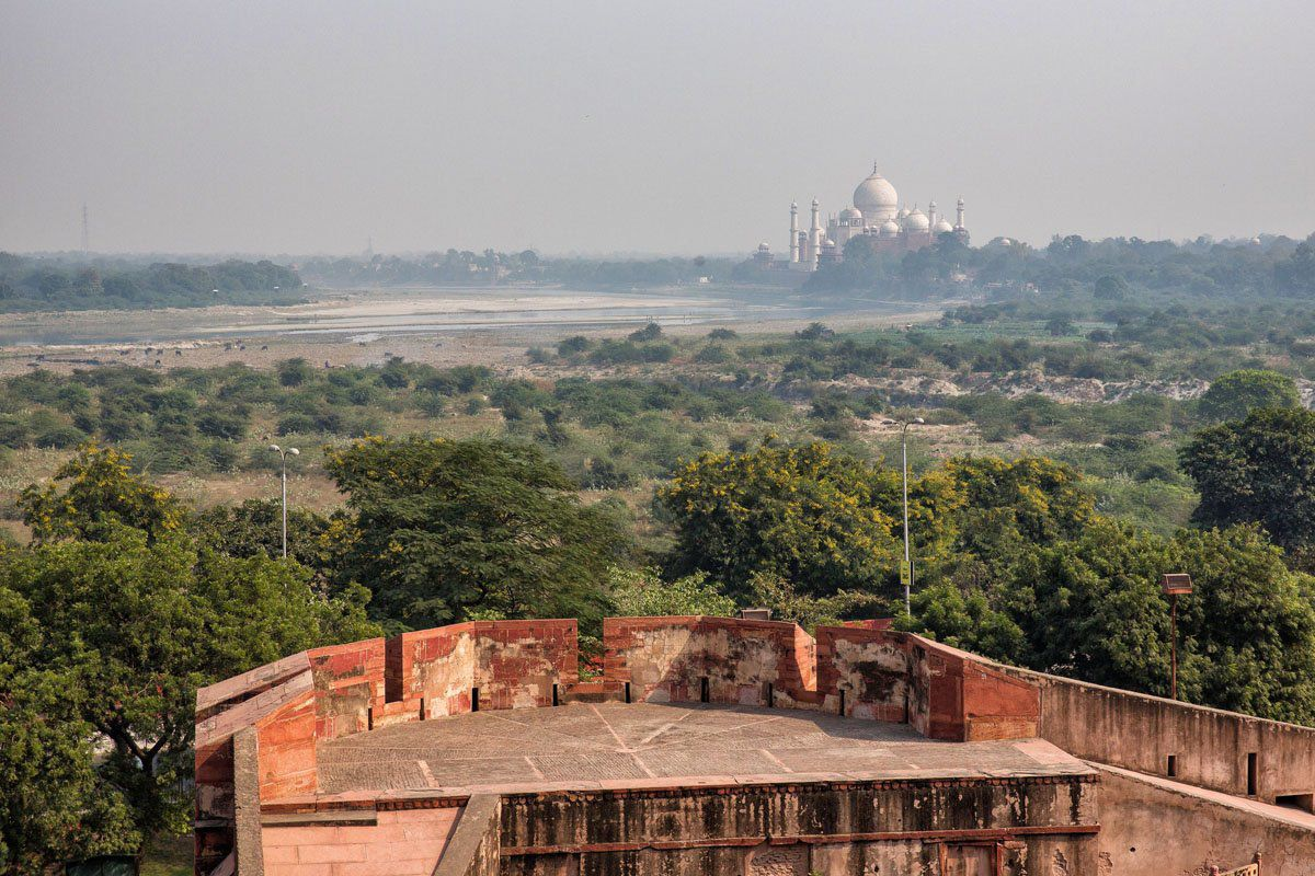 Taj Mahal from the Red Fort