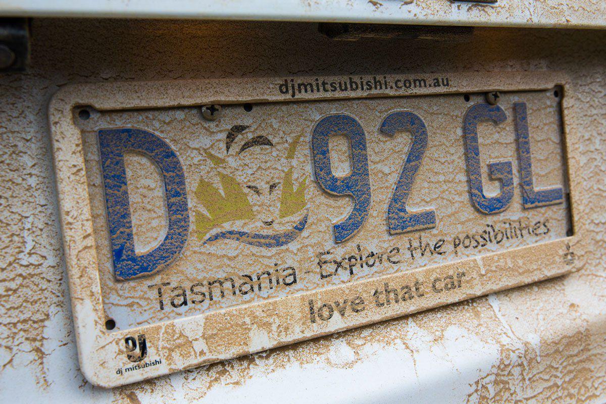 Tasmania License plate