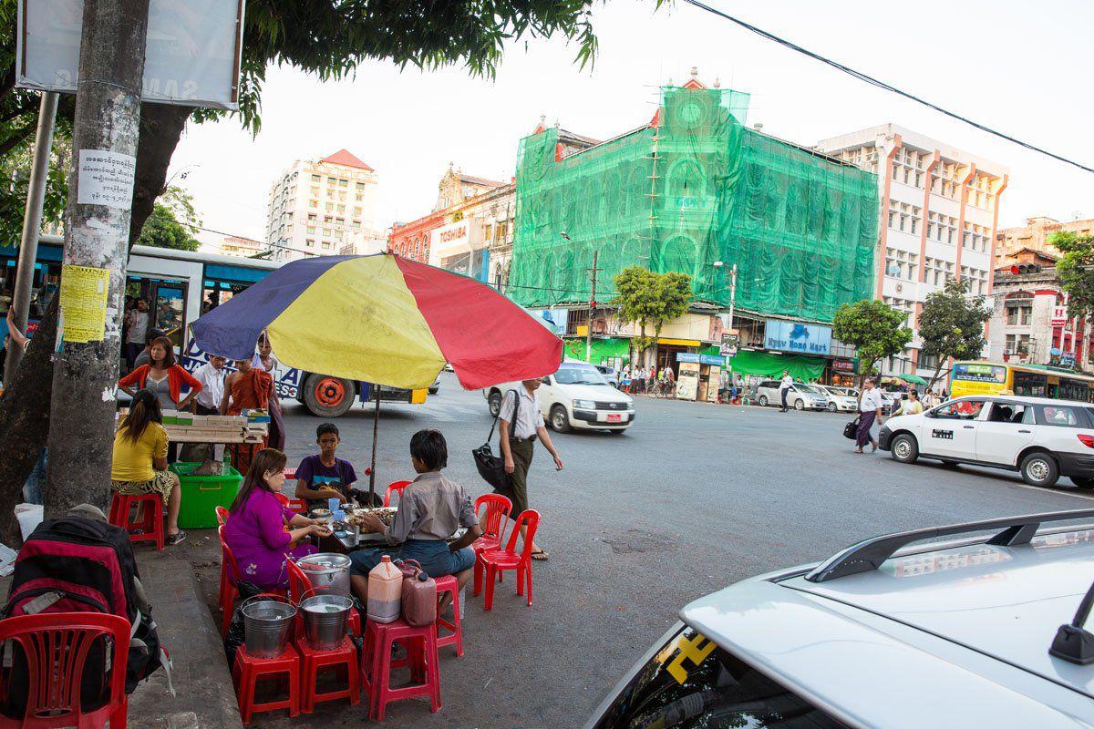 Yangon city street