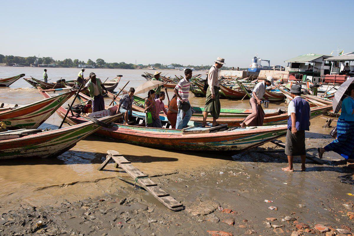 Yangon boats