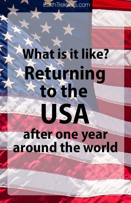 Returning to the USA