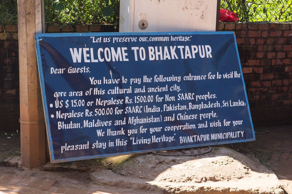 Bhaktapur sign