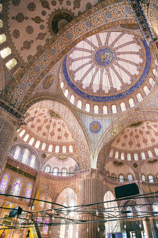 Blue Mosque Interior Istanbul