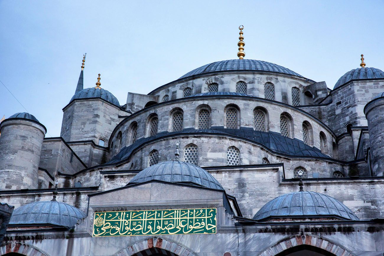 Blue Mosque Roof Istanbul