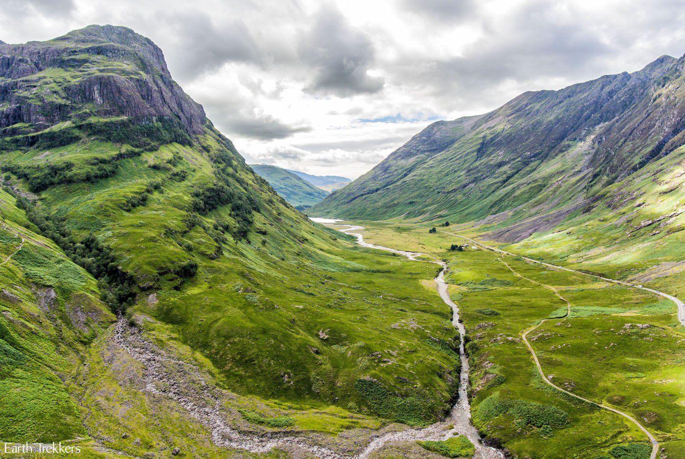 Glen Coe Scotland Drone