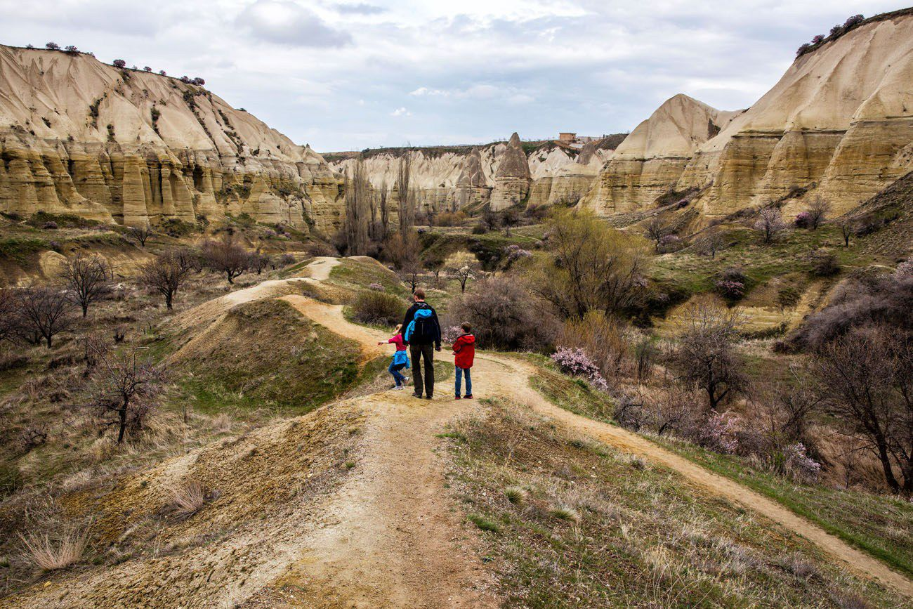 Hiking Cappadocia with kids
