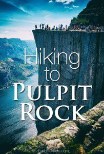 Hiking to Pulpit Rock Norway