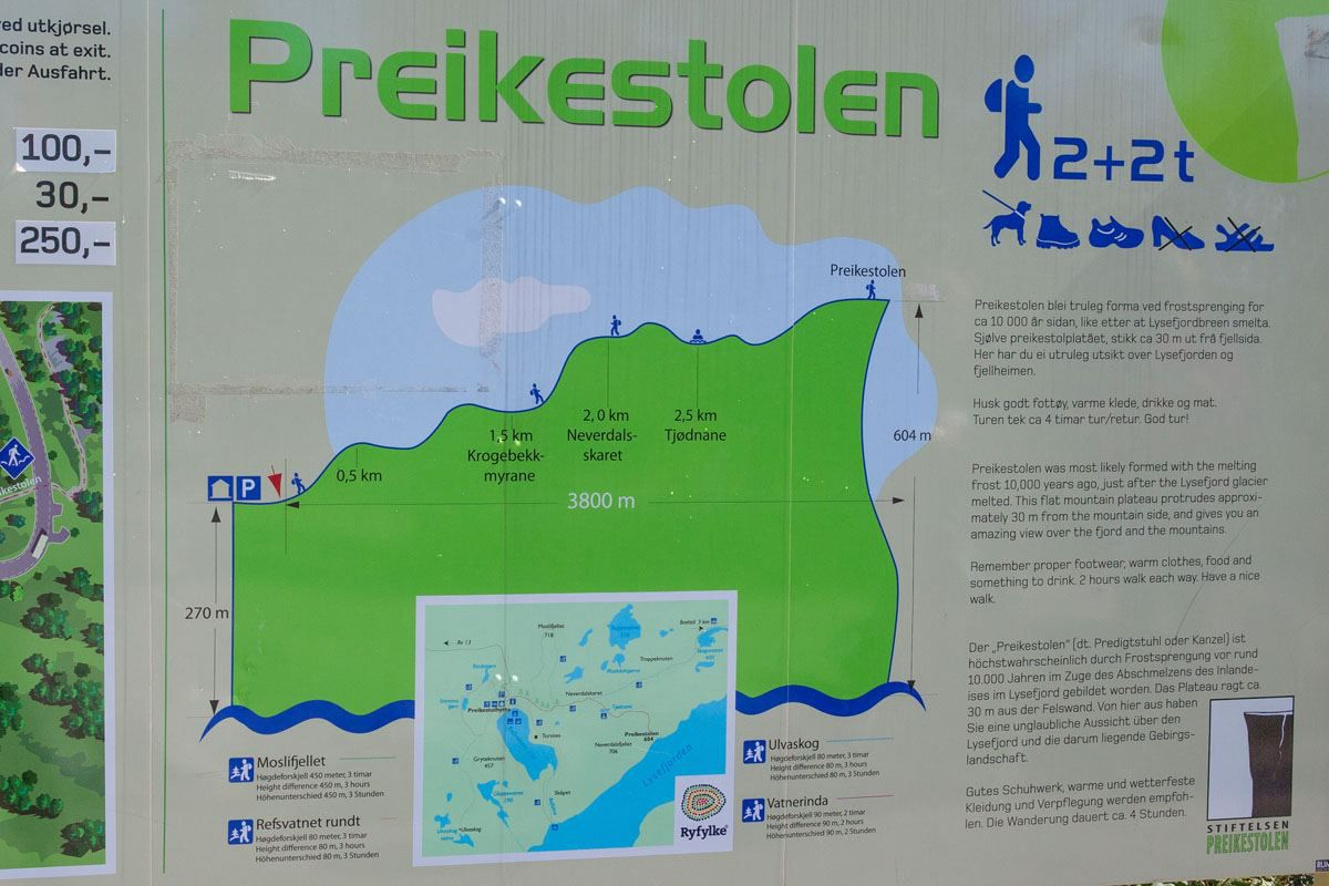 Preikestolen Sign