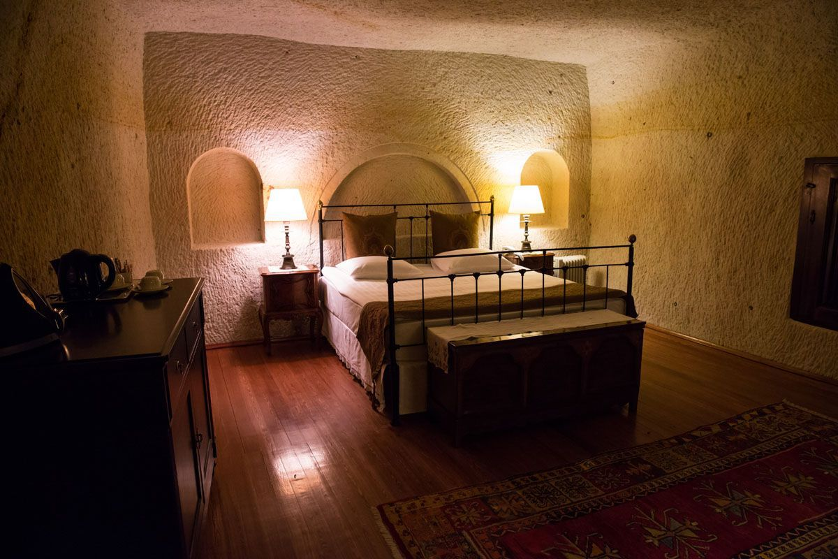 Sleep in a cave