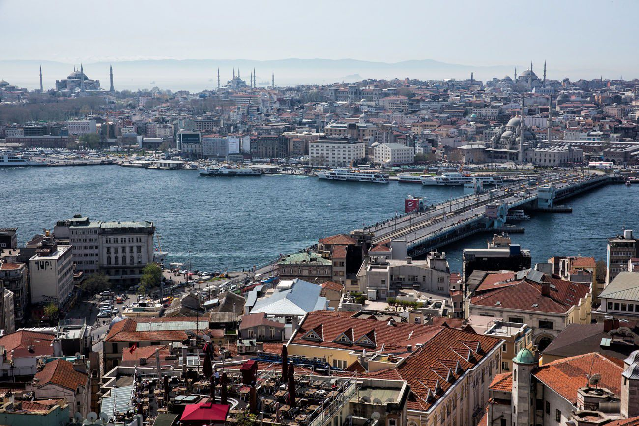 View from Galata Tower Istanbul