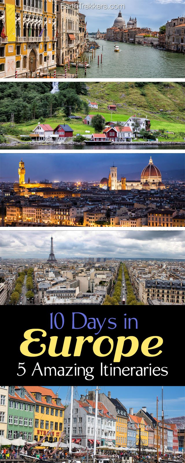10 Days in Europe Travel Itineraries